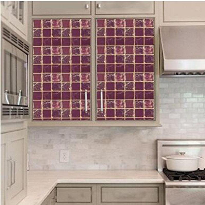 Entzuckend Mini Marmor Vinyl Selbst Adhesive 3d Aufkleber Für Küche Moderne Tapete PET  Wasserdichte Wand Fliesen 4
