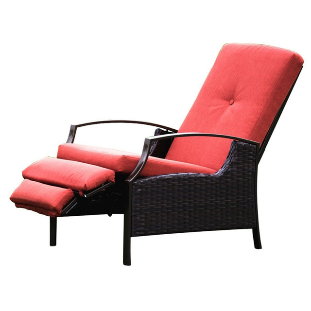 Naturefun Indoor/Outdoor Wicker Adjustable Recliner Chair ...