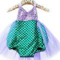 Summer Toddler Baby Kids Girls Little Mermaid Sequins Bikini Suit Swimwear Swimsuit Summer Kids Costume Hot Selling