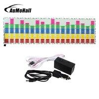 AuMoHall LED Activé au Bruit EL Fiche Voiture Autocollant de Musique Égaliseur Glow Flash Multi Panel Light Couleur Clignotant Rhythm Lumières