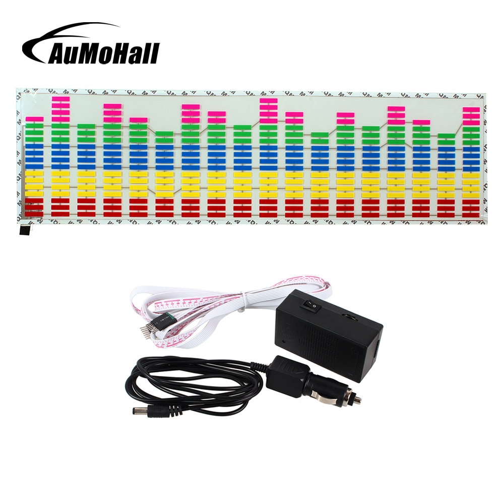 AuMoHall LED Sound Activated EL Sheet Car Music Sticker Equalizer Glow Flash Panel Multi Colour Light Flashing Rhythm Lights