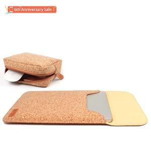 Image 4 - SIKAI, bolsa de manga de corcho para MacBook Air 11 12 13 pulgadas, bolsa de cuero suave de madera para Macbook, funda para MacBook