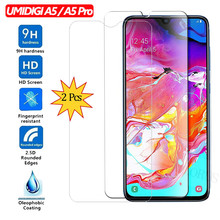 ALLORUS 2Pcs Glass for UMIDIGI A5 Pro 9H Screen Protector Tempered on the Protective