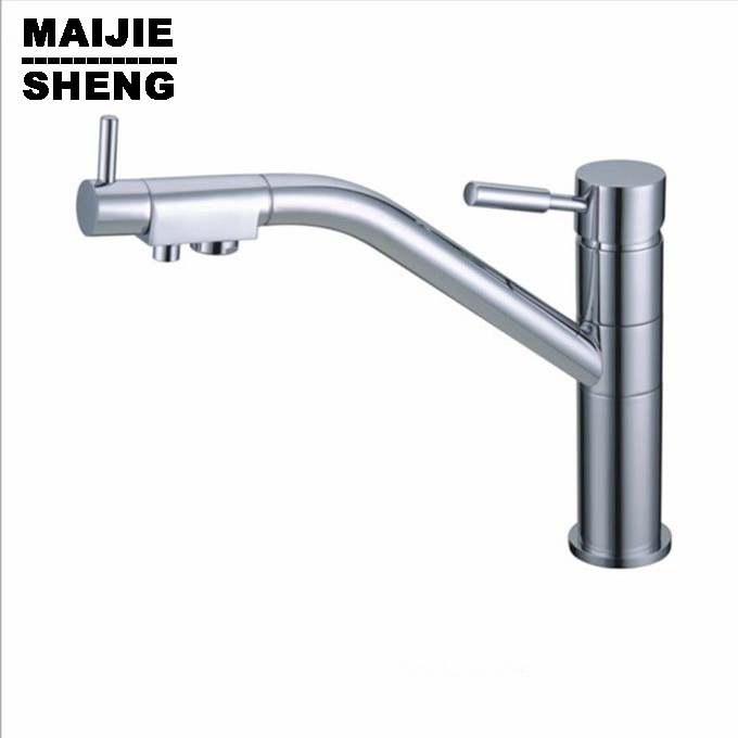Drinking direct Water Faucet 3 Way Mixer Torneira Water filter Kitchen Tap Faucets 3 way double function kitchen mixer sognare 100% brass marble painting swivel drinking water faucet 3 way water filter purifier kitchen faucets for sinks taps d2111