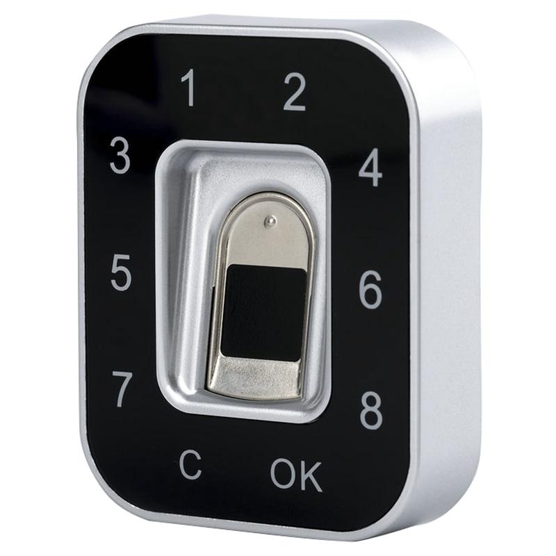 G12 Drawer Password Fingerprint Lock Anti Theft Privacy Protection Fingerprint Password Lock Safety Shoe Lock File Lock Jewelr#8 Electric Lock     - title=