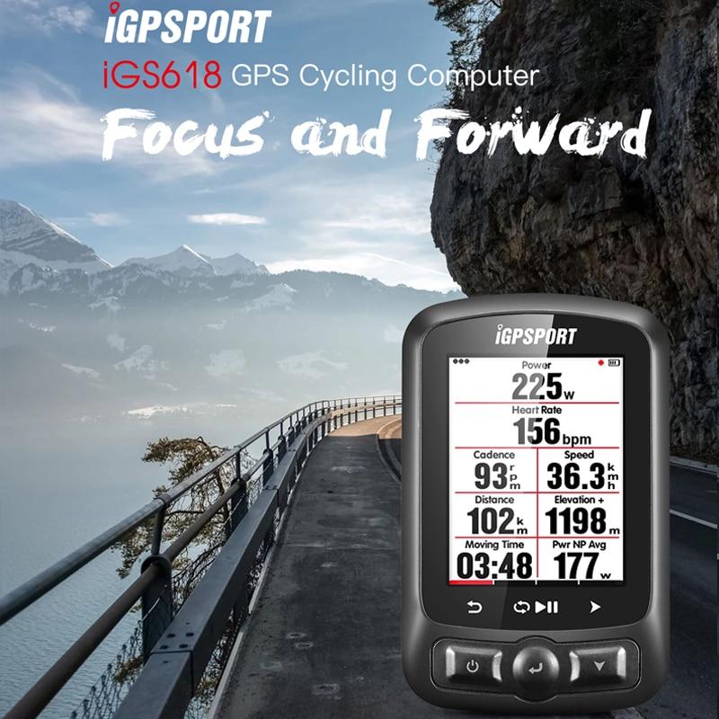 IGPSPORT ANT + GPS IGS618 Étanche De Bicyclette De Vélo Ordinateur Bluetooth Sans Fil Chronomètre Compteur de vitesse à Vélo Compteur De Vitesse Ordinateur dans Ordinateur à vélo de Sports et loisirs