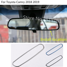 car body inner back rear view Rearview Side Mirror Strip Cover stick trim frame 1pcs For