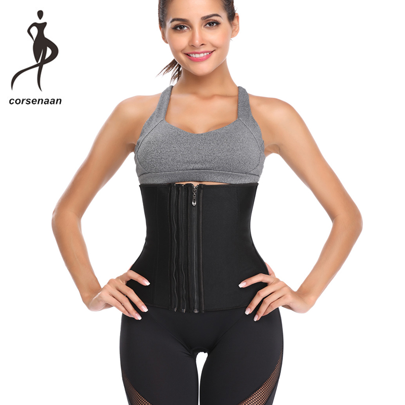 Plus Size Postpartum Recovery Waist Trainer Abdomen Body Sculpting Latex Rubber Girdle With 3 Rows Of Zipper 906#
