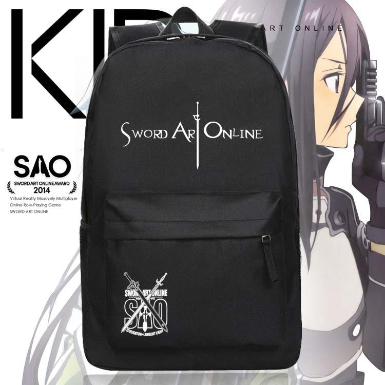 Fashion Children Anime SAO Backpack Sword Art Online Kirito Asuna ... 828f9e33d7770
