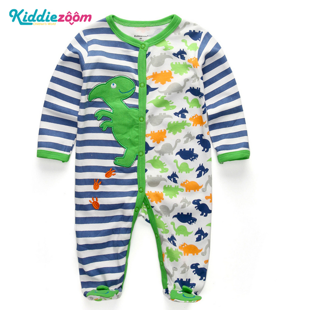 d6c4cb71e994 Newborn Dinosaur Clothes Baby Boy Infant Wear use Soft Cotton Romper  Overalls Baby Rompers Clothing for