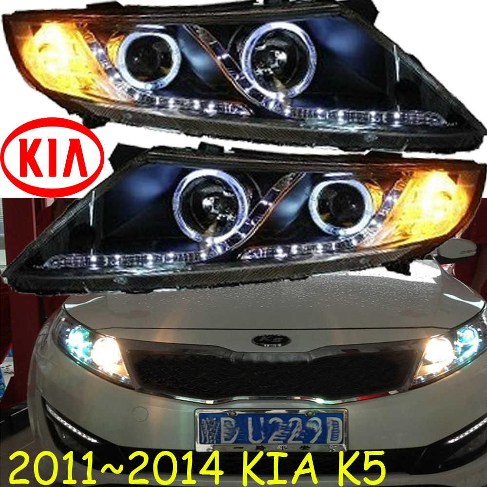 KlA K5 headlight,2011~2014 (Fit for LHD and RHD),Free ship!KlA K5 daytime light,2ps/se+2pcs Ballast;sorento,K5 Taillight free shipping k5 metal shell