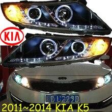 KlA K5 headlight,2011~2014 (Fit for LHD and RHD),Free ship!KlA K5 daytime light,2ps/se+2pcs Aozoom Ballast;sorento,K5 Taillight