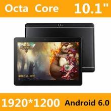 Новый дизайн 10.1 Дюймов Оригинальный 3 Г телефон планшет 8 Core tablet pc Android 6.0 tablet 4 ГБ RAM 128 ГБ ROM GPS 4 Г + 128 Г Планшетный пк 7 8