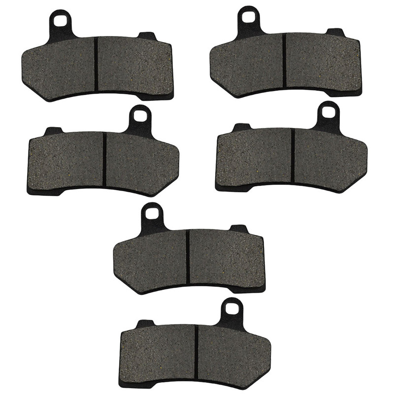 3 Pairs Motorcycle Brake Pad for HARLEY DAVIDSON FLHRC Road King Classic 2008-2014 Black Brake Disc Pad