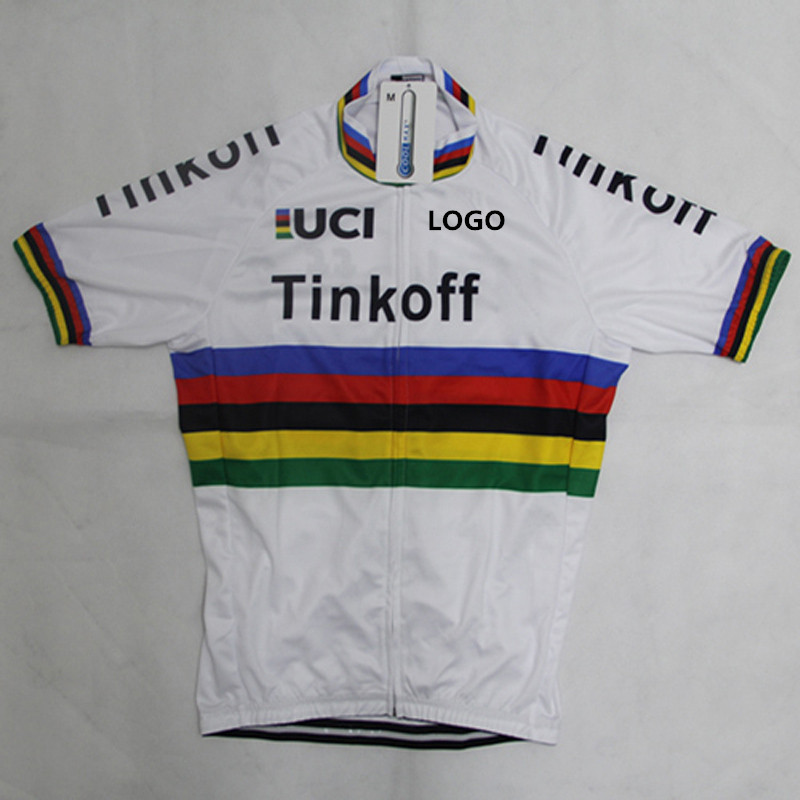 tinkoff 2016 white summer cycling jersey pro ciclismo peter sagan men ropa  ciclismo saxo bank tinkoff new MTB with Color bars-in Cycling Jerseys from  Sports ... 141050352