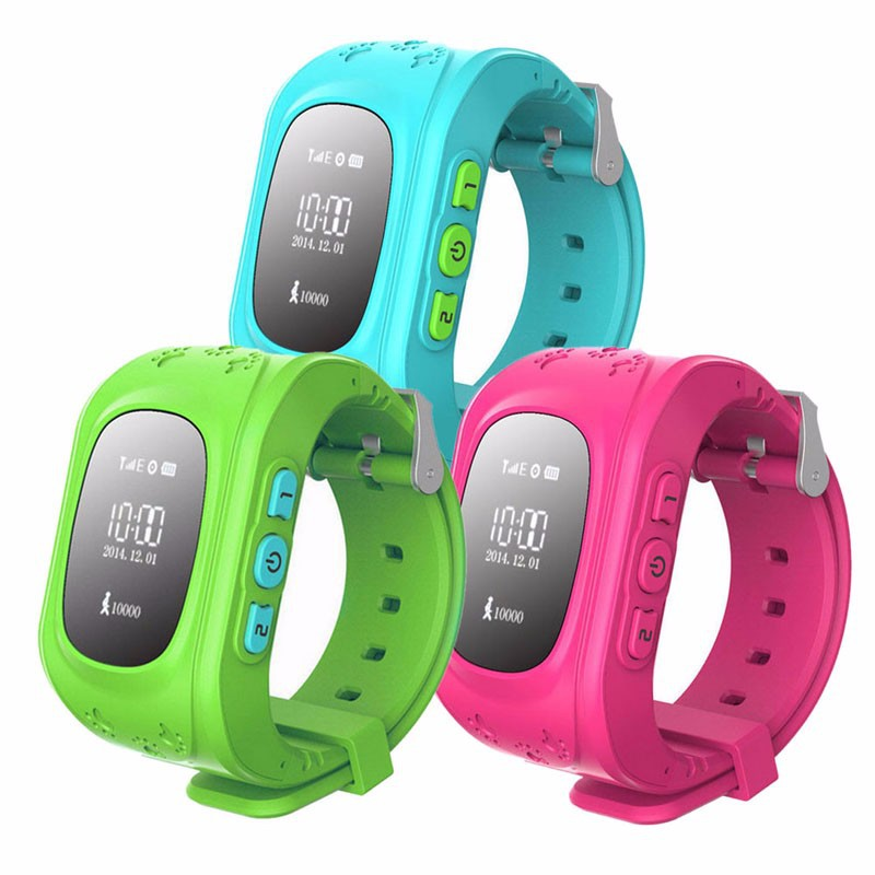 Watch Bracelet Q50 Tracker Wristband Kids Anti-Lost Location Led-Screen Candy-Colors
