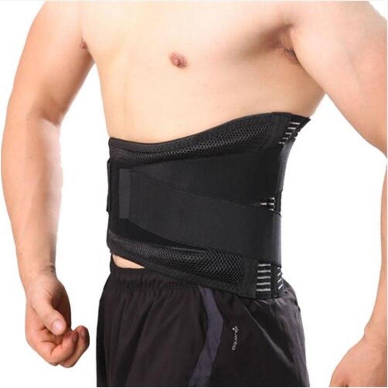 Mujeres Hombres ortopédicos postura volver cinturón Abdominal elástica XXL corsé Lumbar Brace cinturón de apoyo cinturón Y015