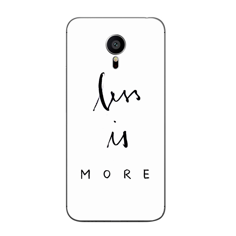 For Meizu MX4 MX5 MX6 Pro 5 6 Phone Case M1 M2 M3 Note MEILAN E Mini Shell Transparent Cover Soft Silicon B&W English Pattern