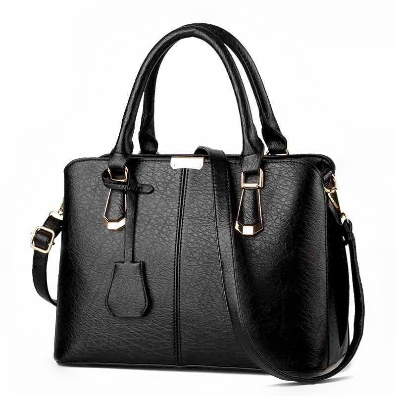 2018 Famous Brand luxury handbags female Imitation Leather big shoulder bags women's fashion pendant decorated messenger bag