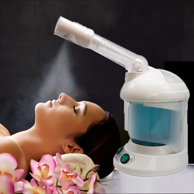 2 in 1 Machine Facial Spray Steamer  With Extendable Arm Ozone Table Top Mini Spa Face Design  360 Degrees Rotatably Spray Head title=