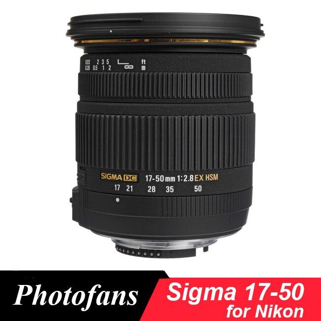 Sigma 17-50 Sigma 17-50mm f/2.8 EX DC OS HSM Lens for Nikon D5600 D5500 D5300 D5200 D7500 D7100 D7200 D500 D3400 D3300 D500
