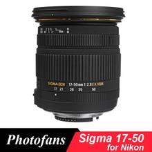 Sigma lente 17 50 sigma 17 50mm f/2.8 ex dc os hsm para nikon d5600 d5500 d5300 d5200 d7500 d7100 d7200 d500 d3400 d3300 d500