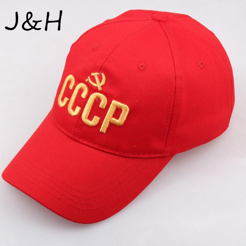 New Arrival CCCP USSR Russian Letter Snapback   Cap   Unisex Black Red Cotton   Baseball     Cap   With Embroidery Dad Hat Drop Shipping