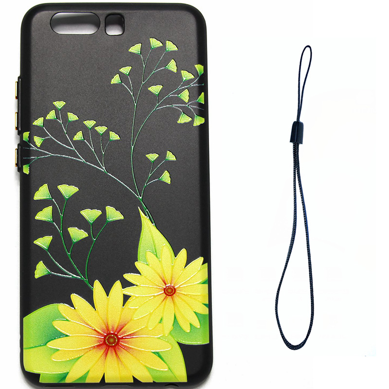 3D Relief flower silicone  case huawei p10 (4)