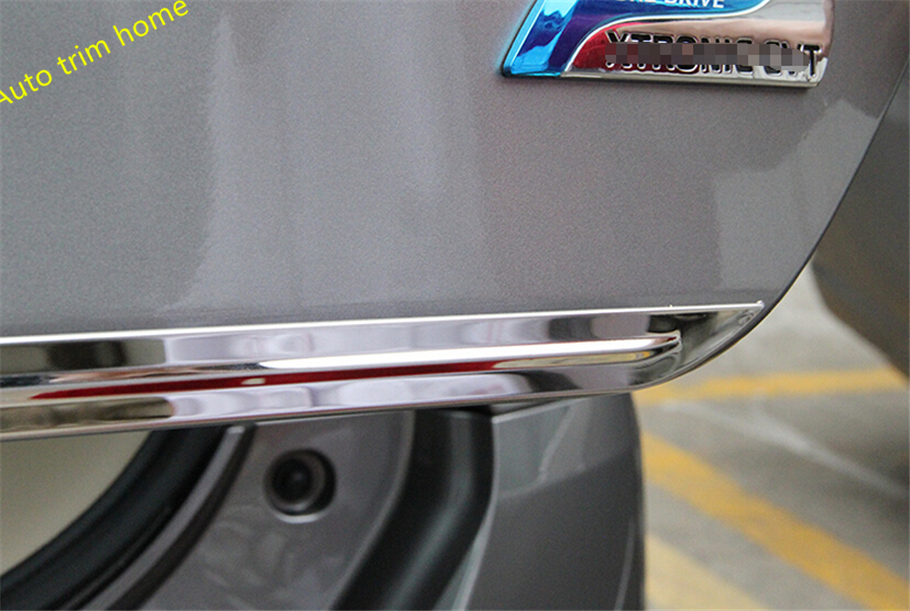 For Nissan X-Trail X Trail T32 Rogue 2014 2015 2016 Rear Trunk Lid Cover Tailgate Trim Door Handle Molding Boot Garnish Bezel abs chrome side door body protection molding trim cover for nissan x trail x trial rogue t32 2014 2015 car styling accessories
