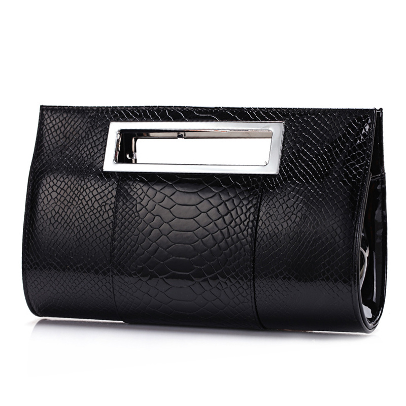 2017 Luxury famous Brand women evening bag lady tote alligator Leather clutch party bolsos de mano fiesta shoulder bag B90