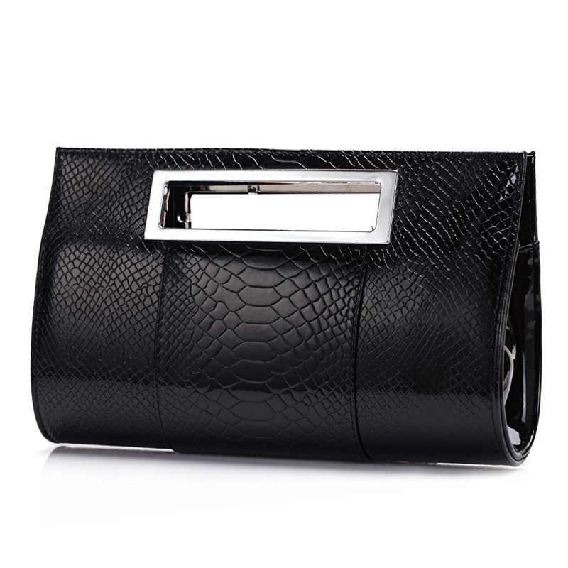 comprar popular 1c477 dff98 2019 Luxury famous Brand women evening bag lady tote alligator Leather  clutch party bolsos de mano fiesta shoulder bag B90