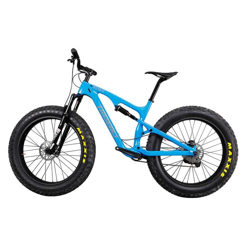 Carbon Full Suspension Fatbike 26er Mountain MTB Bike