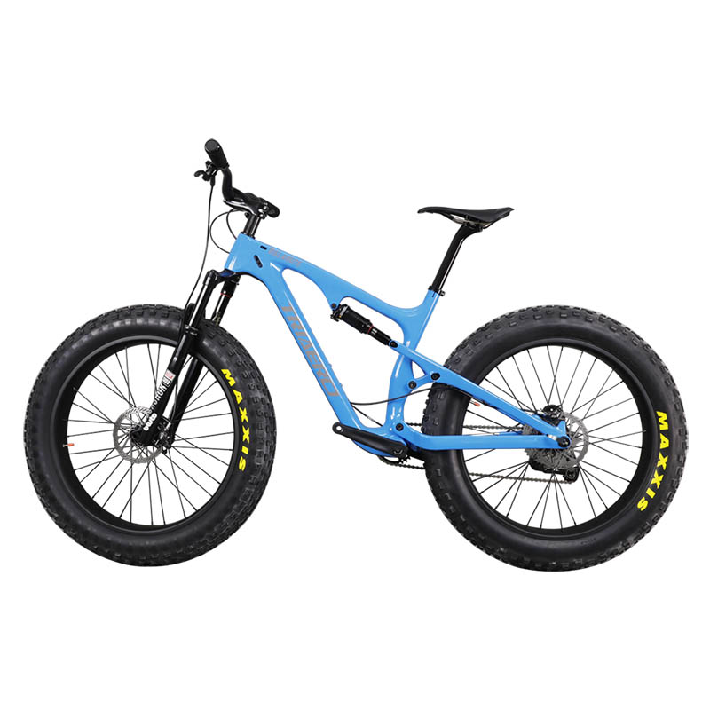 Carbon full suspension fatbike 26er mountain MTB font b bike b font