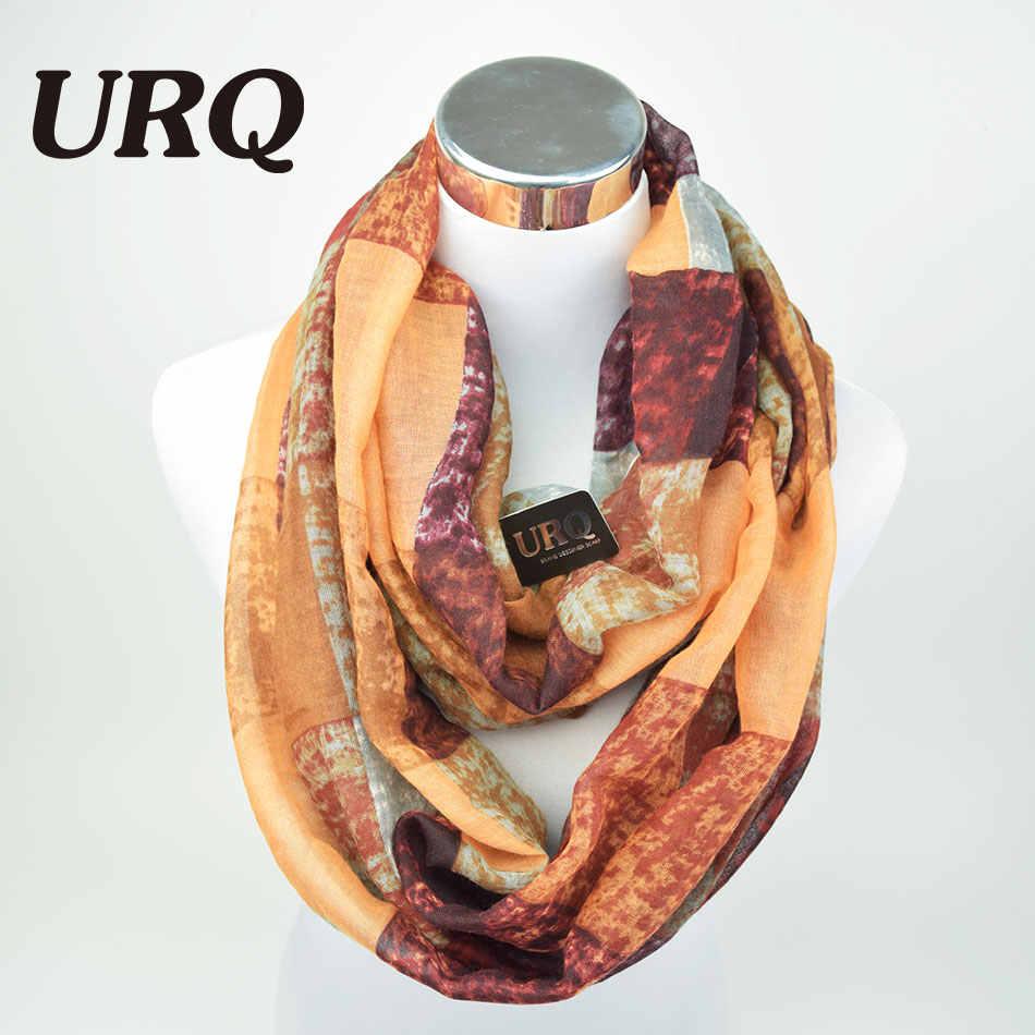 Infinity Scarf per la Donna Fashion Designer Winte Tubo Sciarpe Plaid Caldo della signora Anello Sciarpe Loop Avvolge Grande V8A18430