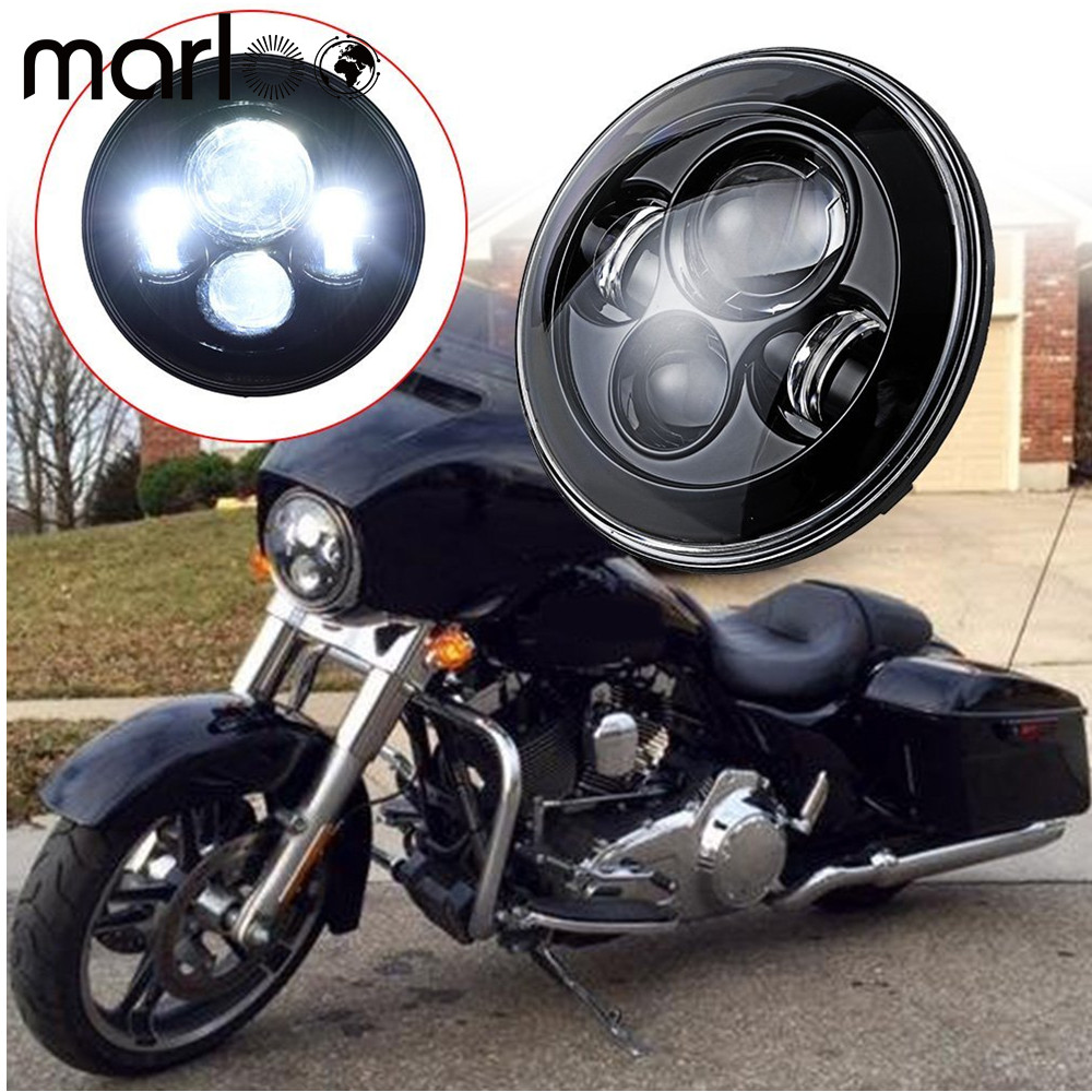 Marloo 7 Inch Motorcycle Projector Daymaker Hi/Lo LED Light Bulb Headlight For Harley Davidson Touring