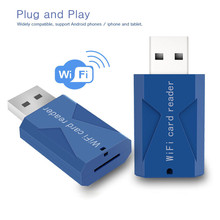 Newest Wifi USB Smart Card Reader Wifi TF Micro SD Card Reader Extended Phone Memory Wireless Storage Flash Drive