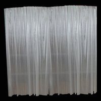 4*8m Ice Silk Wedding Fabric Backdrop Curtain Background For Pipe and Drape Dispalys