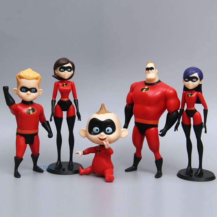 Lensple 5pcs 6pcs 12pcs/set Super man The incredibles 2 Mr. incredibles Dash Parr Jack Parr Elastigirl Action Figure Toys maria parr vilgukivioru tonje