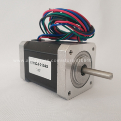 Stepper Motor 17HS24-2104S  L 60 mm  Nema 17 with 1.8 deg  2.1 A  65 N.cm and  bipolar 4 lead wire HIGH TORQUE TYPE