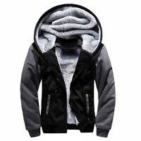 Winter Hoodies Sweatshirt Moletom Men S Causal Thick Fleece Baseball Uniform Sportswear Coats Men Patchwork Tracksuit