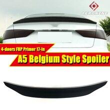 цена на For Audi A5 A5Q FRP Unpainted Spoiler Belgium Style rear spoilers Rear trunk Lid Boot Lip wings 4-doors Rear car styling 2017-in