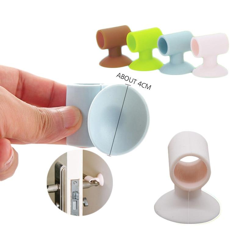 Baby Safety Door Stoppers Silicone Sound Proof Door Handle