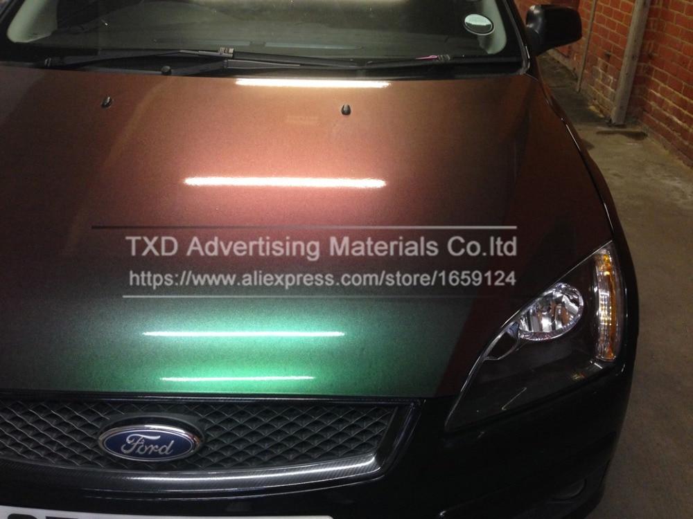 Премиум переливающийся Хромированый голографический автомобильный виниловый обертывание Радужный виниловый лист без пузырьков для автом... - 4