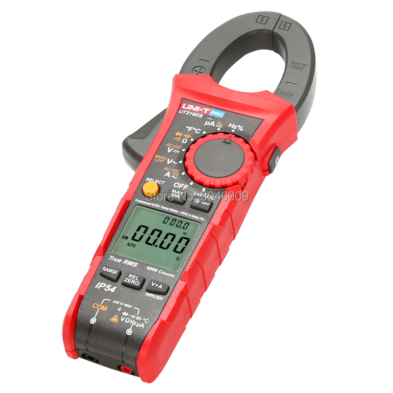 Image 5 - UNI T UT219DS true RMS Professional Clamp Meter; IP54 dust/waterproof digital ammeter, LoZ voltage measurementClamp Meters   -