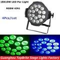 4Pcs/Lot Free Shipping 18*10W 4IN1 Led Par Light Cheap Price RGBW Led Par Cans DMX512 8CH LED Par Stage Wash Dj Disco Lights