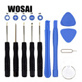 WOSAI 11 In 1 Cell Phones Opening Pry Mobile Phone Repair Tool Kit Screwdriver Set For Iphone Samsung Accessory Bundles