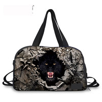 Noisy Designs Gray Functional Bag 3D Animal Print Men Sling Bag Shoulder Handbag Business Travel Bag Travel Weekend Duffle Bag