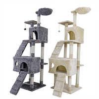 Gato entrega rápida árvore torre condo scratcher animais de estimação arranhando post casa rede animais de estimação jogando escalada post gato árvore torre