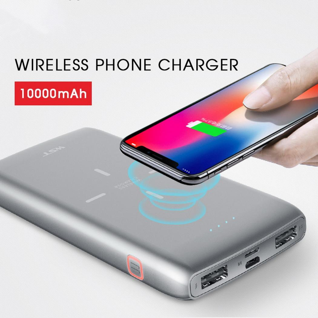 10000mAh Portable Dual USB Output Wireless Power Bank Powerbank For iPhone Samsung Xiaomi Mobile Phone Charger Poverbank Power