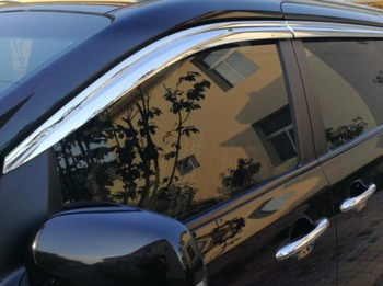 ABS כרום פלסטיק חלון Visor Vent גווני שמש גשם משמר רכב לג 'יפ גרנד צ' רוקי 2015 2017 2018 רכב סטיילינג|עיצוב כרומיום|   -